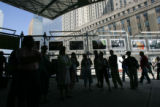 9/11 story.   Crowds visit the site of the ground zero in Manhattan, New York on Sept 7, 2006,...