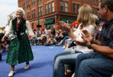 Seventy-nine year-old Matilda Morris(cq), left, of Denver, is applauded after getting up to dance...