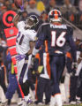 (JPM210) -Baltimore Ravens cornerback Chris McAlister, #21, reacts to recovering a  Denver...