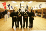 The Abraham Lincoln High School JROTC color guard presents the colors to begin the Circle of...