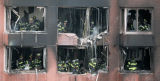(NYT72) NEW YORK -- Oct. 11, 2006 -- NY-CRASH-18 -- Firefighters in a residential high-rise...