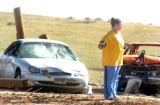 Elbert County, Colo.-May 11, 2004- The Elbert County home of Herman Stuke was totally destroyed by...