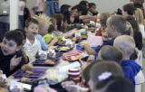 Students eating lunch at Pennock Elementary School in Brighton on Tuesday September 26,2006....