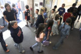 Students head to lunch at Pennock Elementary School in Brighton on Tuesday September 26,2006....