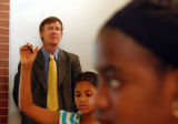 (ENGLEWOOD, CO. JULY 19, 2004) (Lt. to Rt.) Denver Mayor John Hickenlooper, paid a visit to DPS...