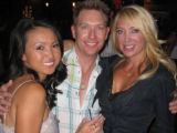 From left, highest-selling bachelorette Kathy Lee joins event co-chairmen Dr. Dave Hurt and Holly...
