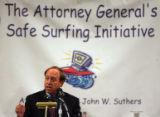 DLM02577   Colorado Attorney General John W. Suthers talks about new strategies for combating...