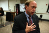 DLM02578   Colorado Attorney General John W. Suthers talks about new strategies for combating...