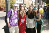 Team Clue members and siblings, from left, Bernie McShane (Professor Plum), Erin McShane (Miss...