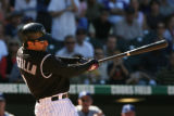 Colorado Rockies Vinny Castilla came to bat as a pinch-hitter in the bottom of the 4th, and...