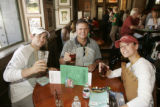 Members of Mile High Hunt Team Common Cents take a break at McCormick's. From left, Julian Flores,...