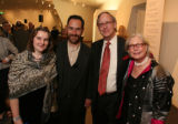 Sarah and Blake Milteer, a DAM curatorial assistant, with Blake's parents, Richard and Susan...