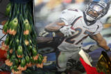 (DLM4147) - Tributes left for slain Denver Bronco Darrent Williams at makeshift memorials at...