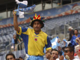 (Denver, Colo., July 21, 2004) Welman Lopez, a fan of Club Atletico Boca Juniors, of Argentina,...