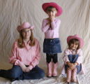 The Best of Pink.  Left to right:  Ashley Bertolina, 19, left, Emily Bennett, 4,  and Ariana Kemp,...