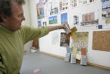 Color expert James Martin in his office in Denver on January 8, 206.  He is choosing colors for...