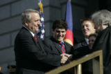 Governor Bill Ritter was sworn in as Colorado's 41st governor on the west steps of the Colorado...
