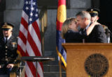 MJM420 Lieutenant Governor, Barbara O'Brien is embrace by Colorado Governor, Bill Ritter  after...