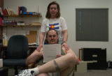 (DENVER, CO. 5/11/04) Kory and Mary Broere going through their physical assessment at the Denver...