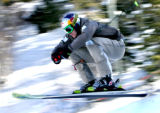 Daron Rahlves (cq) from Sugarbowl, CA qualified with the fastest time  in the Skiier X race at the...