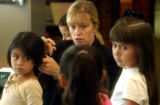 (Sheridan, Colo., July 7, 2004)  Kathie Garvey, summer school principle at Fort Logan Elementary...