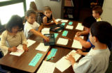 (Sheridan, Colo., July 7, 2004)  First grade students (clockwise from far left) Diana Orocio,...