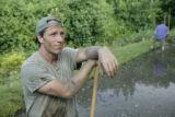 July 1.  Kona, HI:  Mike Rowe, host of the Discovery Channel's Dirty Jobs at Kukui Farms, a Taro...