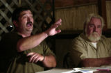 "Pueblo, Colo., photo  taken July 22, 2004-Frank Smith (right) who calls himself a ""concerned..."