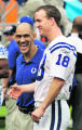 MDS137 - Indianapolis Colts coach Tony Dungy, left, laughs as he poses with his starting...