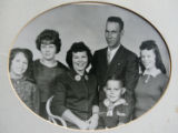 Juanita and Art Larson pose with their three daughters  Alice, left; Nancy; and Linda -- months...