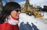 Denver Councilwoman Judy Montero (cq) watches as  Public Works and Operations held a demonstration...