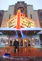 The exterior of the Boulder Theater in Boulder on December 28, 2006, during a snowstorm on the...