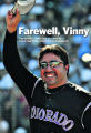 Colorado Rockies Vinny Castilla waves to the crowd during a tribute to him, 5th inning,Thursday...