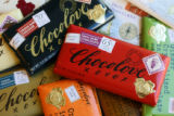 An assortment of Chocolove premium chocolate bars from Boulder, Co. for Wall Street West Ventures...