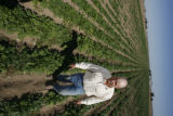 DLM01089   Farmer David Petrocco stands in a field of spinach near Gilcrest, Colo. Tuesday, Sept....