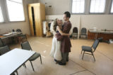 Stephanie Cozart and Douglas Harmensen, (cq both), costar in Amadeus now in rehearsals. They...