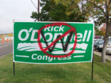 Vandalism Rick O'Donnell's campaign headquarters in Wheat Ridge.