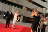 George and Gail Johnson get the red-carpet treatment as they arrive at Dancing for a Cause...