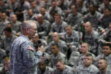 MJM410 Major General Robert W. Mixon Jr. addresses members of the Army 2nd Brigade Combat Team,...