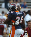 (CANTON, Ohio., SHOT 8/9/2004) The Denver Broncos' Champ Bailey (#24, right) visits with the...