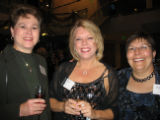 Champagne & Diamonds partygoers included from left, Becky Haddad, Kristi Gleason and longtime...
