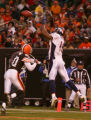 Brandon Marshall makes a touchdown catch over Ralph Brown in the third quarter of the Denver...