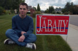 (LOVELAND, Colo.,, July 26,, 2004) Kevin Faaborg (cq Faaborg, from his mom, 970-669-4182), sits...
