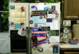 The refrigerator of Canon City resident Joan Parker shows her political leanings. Supporters for...