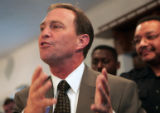 Ed Perlmutter responds to a new NRCC ad in the 7th CD,  Monday afternoon, October 23, 2006 at his...