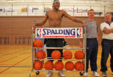 Denver Nugget forward Carmelo Anthony during the third day of training camp Oct. 3-7 at Fort Lewis...