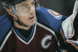 Colorado Avalanche captain Joe Sakic was happy with a personal milestone of 1500 career points but...