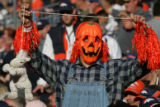 (JPM195) Denver Broncos fan James Vanegas (cq) , of Lakewood, Colo., holds up a noose and stuffed...