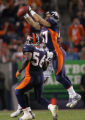 (RMN1027) - Denver Broncos John Lynch, #47, breaks up a pass intended for  Oakland Raiders Randy...
