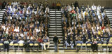 University of Northern Colorado President Kay Norton addresses athletes and coaches at a mandatory...